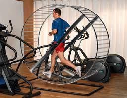 Running on hamster wheel