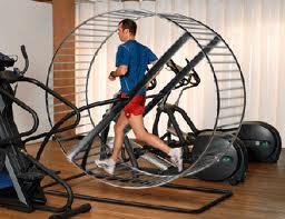 Running on hamster wheel