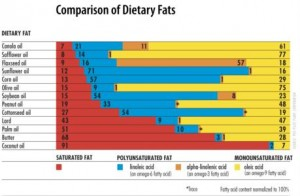 Chart of dietary fats